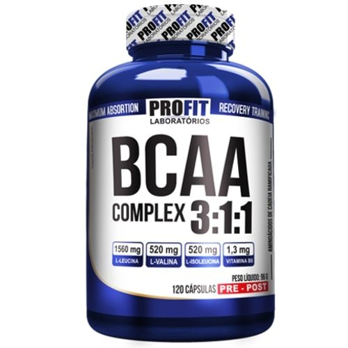 Bcaa Complex 120caps - Profit  - Personall Suplementos