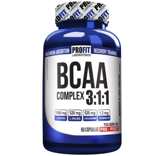 Bcaa Complex 60caps - Profit  - Personall Suplementos