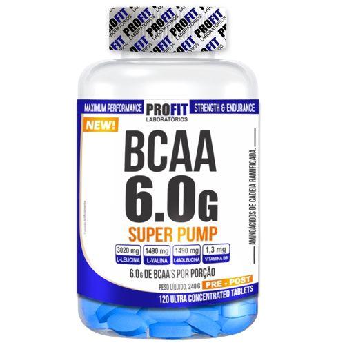 BCAA Super Pump 120tabs -Profit  - Personall Suplementos