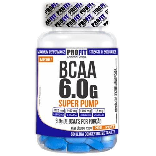 BCAA Super Pump 60tabs - Profit  - Personall Suplementos