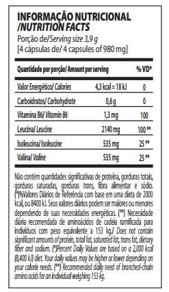 BCAA TOP 4:1:1 120caps - Integralmedica  - Personall Suplementos