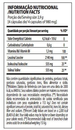 BCAA TOP 4:1:1 240caps - Integralmedica  - Personall Suplementos