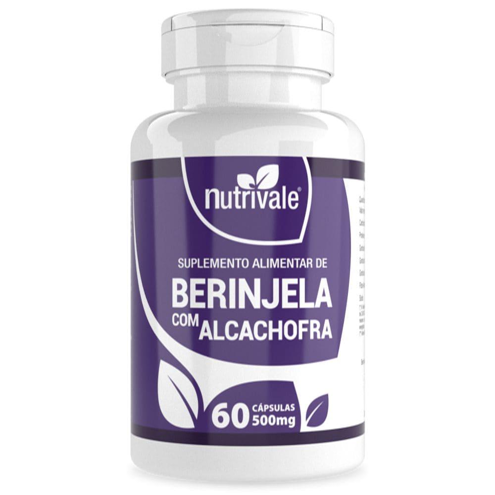 Berinjela Com Extrato seco de Alcachofra 500mg 60 cápsulas - Nutrivale