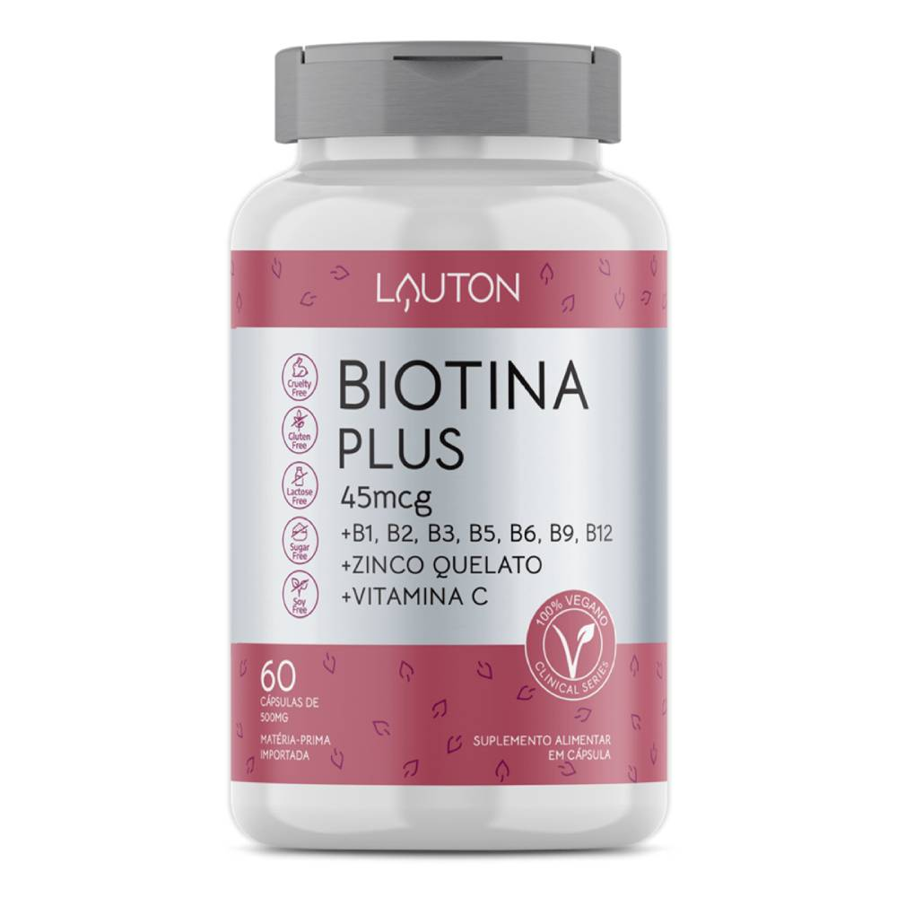 Biotina Plus 60 cápsulas - Lauton Nurition