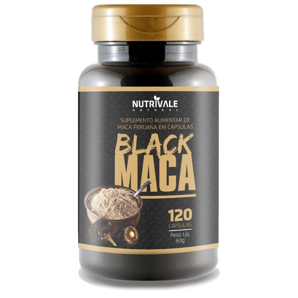Black Maca Peruana 120 cápsulas - Nutrivale  - Natulha