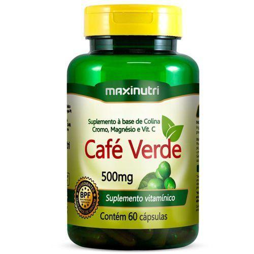 Café Verde Com Colina/Cromo/Magnésio e Vit C 60caps - Maxinutri  - Natulha