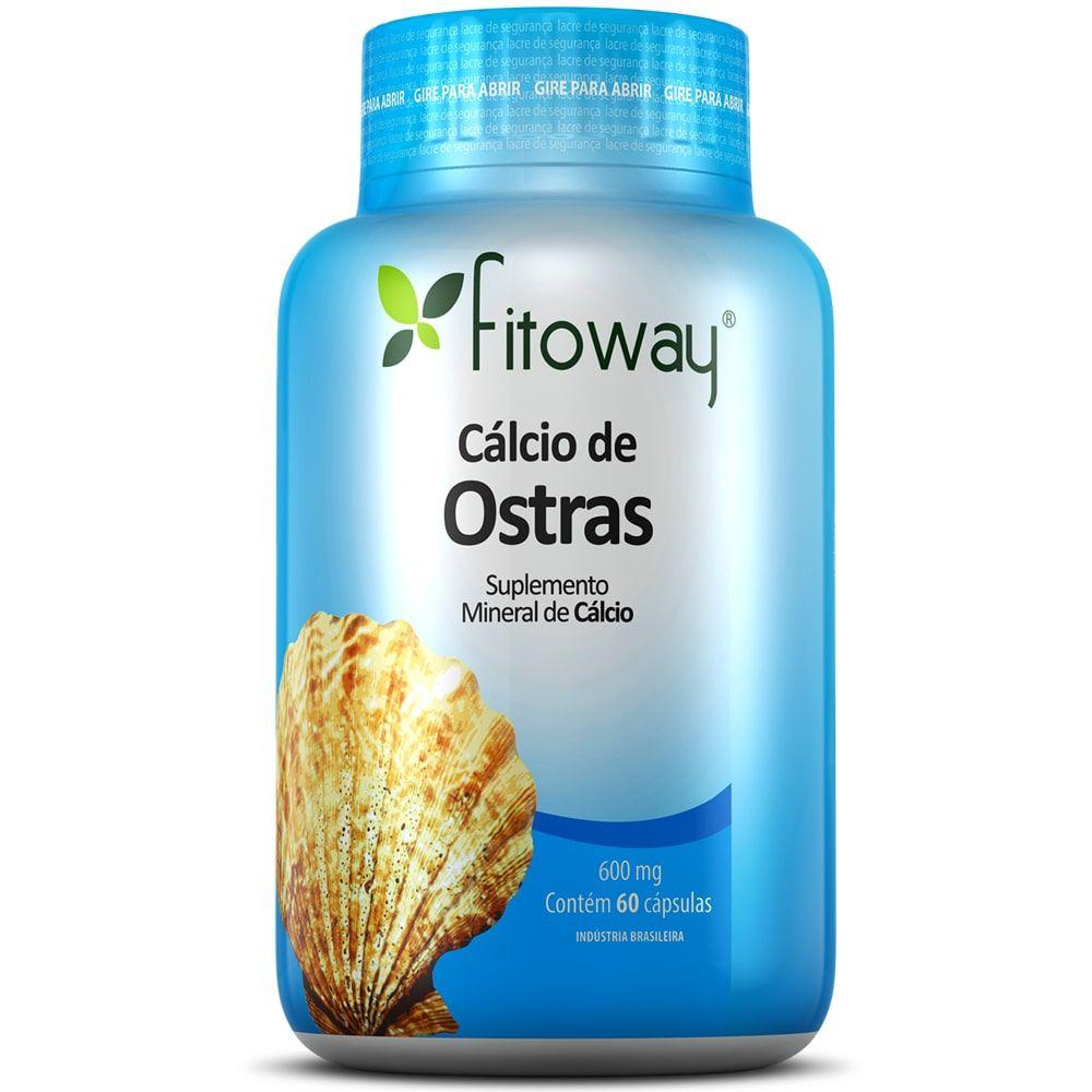 Cálcio de Ostras 60 cápsulas - Fitoway