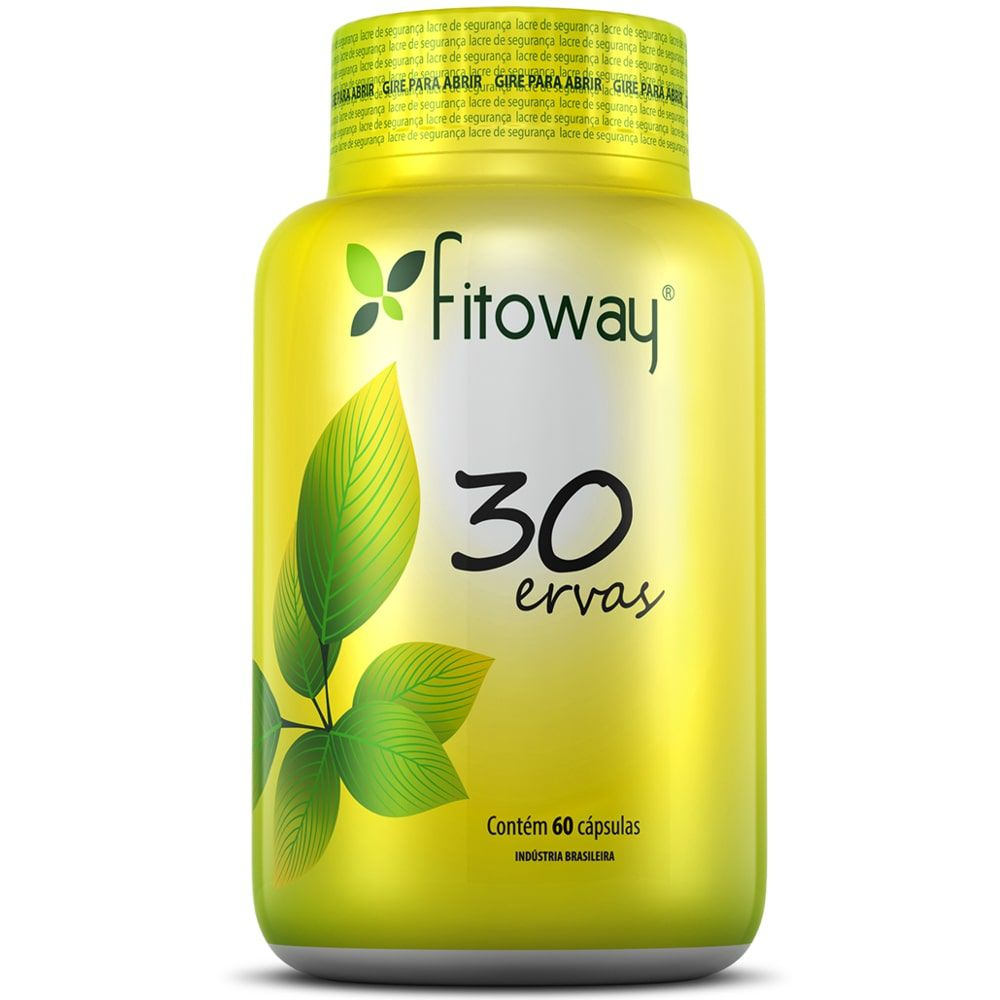 Chá 30 Ervas 60 cápsulas - Fitoway