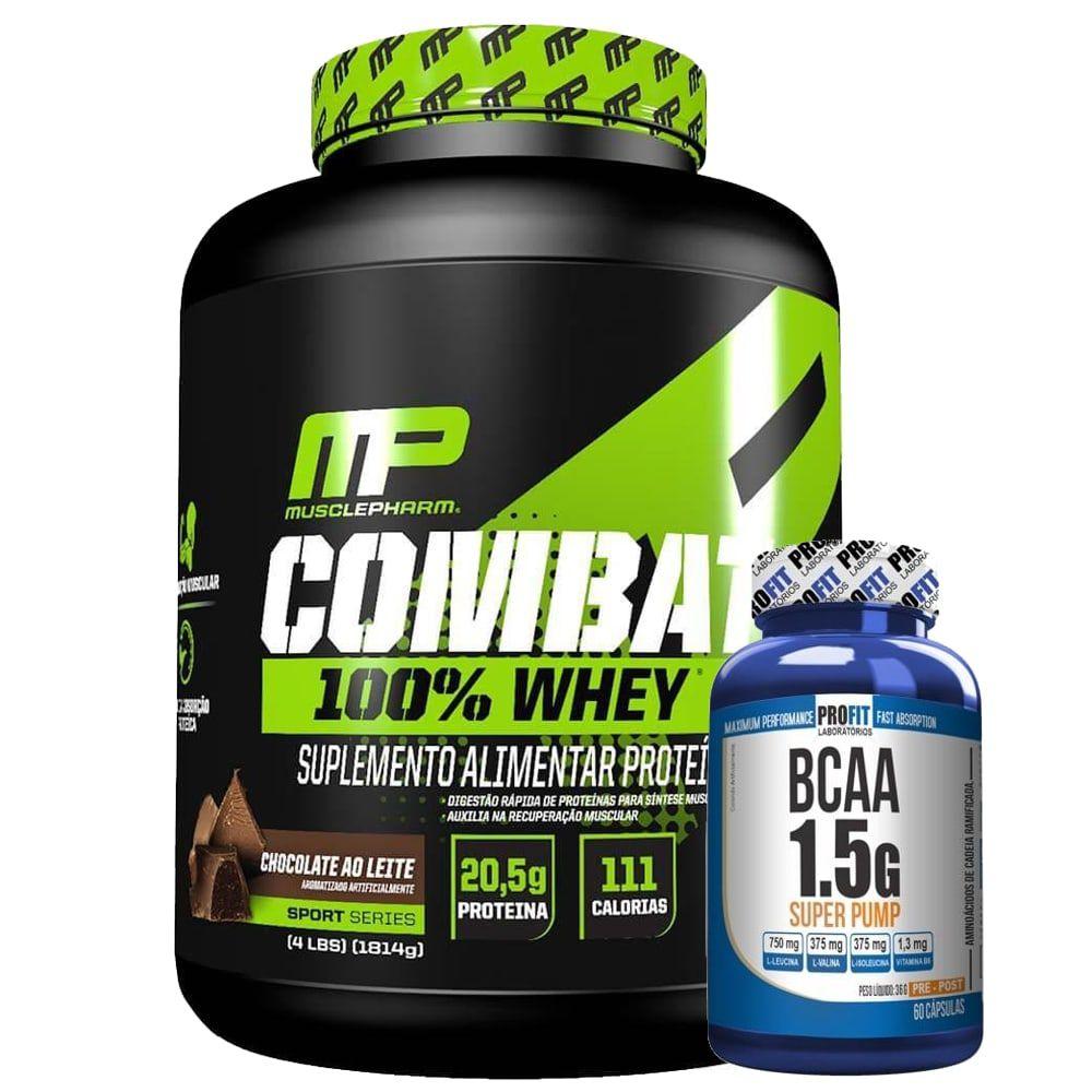 Combat 100% Whey 1814 gramas - Muscle Pharm [ GRÁTIS BCAA ]