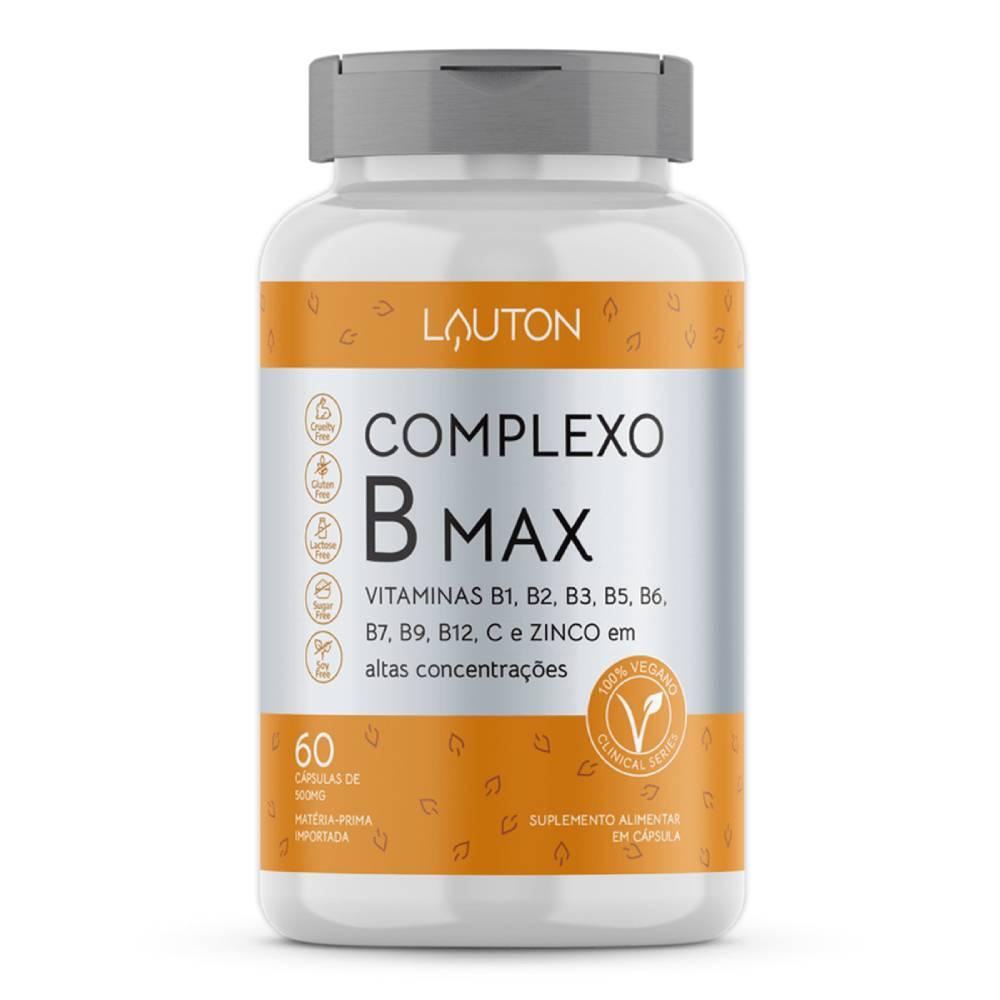 Complexo B Max 60 Cápsulas - Lauton Nutrition