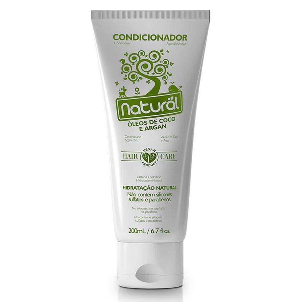 Condicionador com Óleos de Coco e Argan  200ml - Orgânico Natural