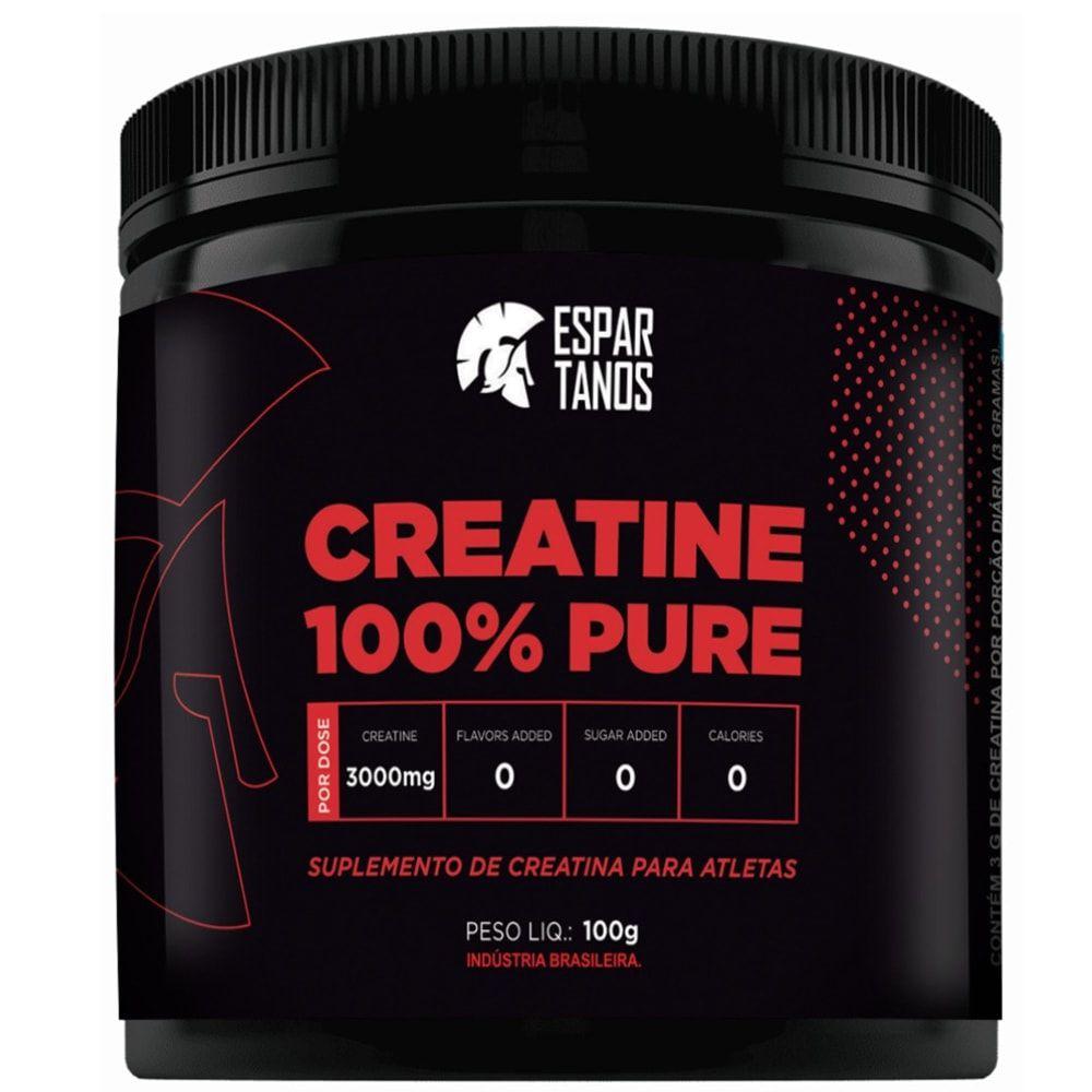 Creatina 100% Pure 100g - Espartanos  - Personall Suplementos