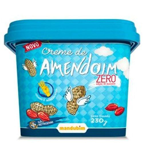 Creme de Amendoim Zero 230g - Mandubim  - Personall Suplementos