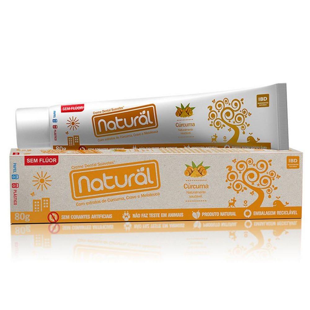 Creme Dental Natural Com Cúrcuma, Cravo e Malaleuca 80g - Orgânico Natural