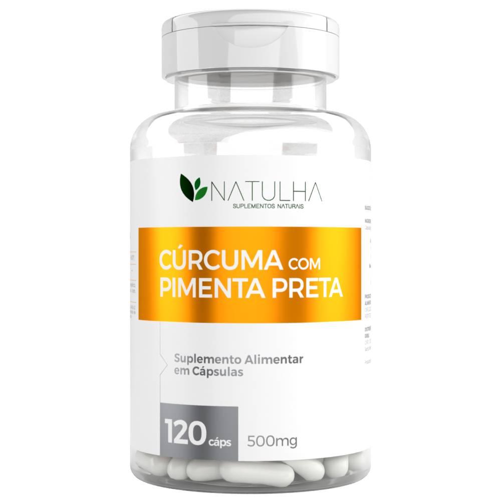 Cúrcuma Longa Com Pimenta Preta 120 cápsulas - Natulha