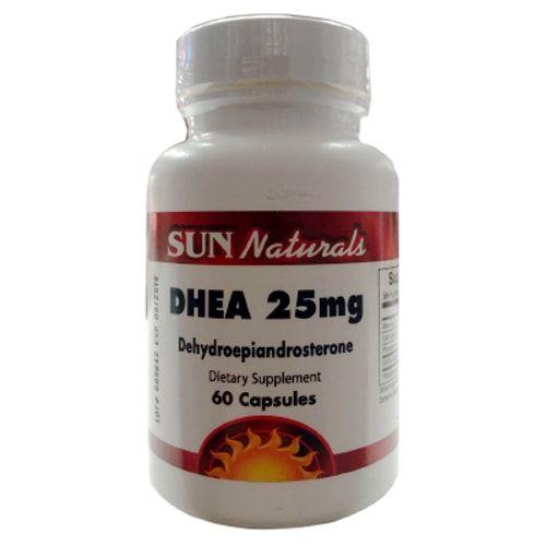 DHEA 25mg 60caps - Sun Naturals  - Personall Suplementos