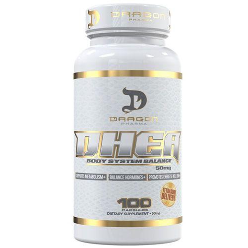 DHEA 50mg 100caps - Dragon Pharma  - Personall Suplementos