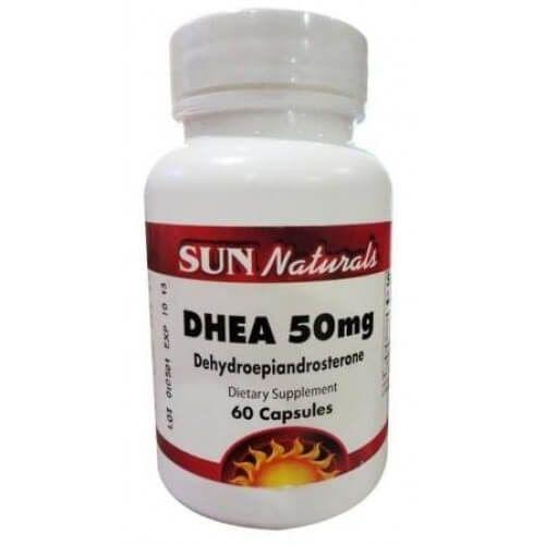 DHEA 50mg 60caps - Sun Naturals
