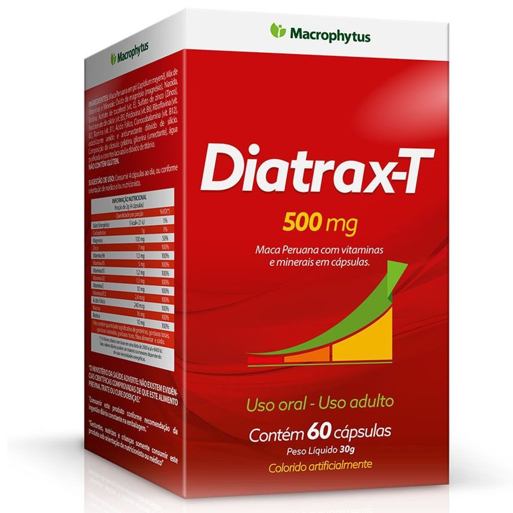 Diatrax-T - 60 cápsulas - Macrophytus   - Natulha