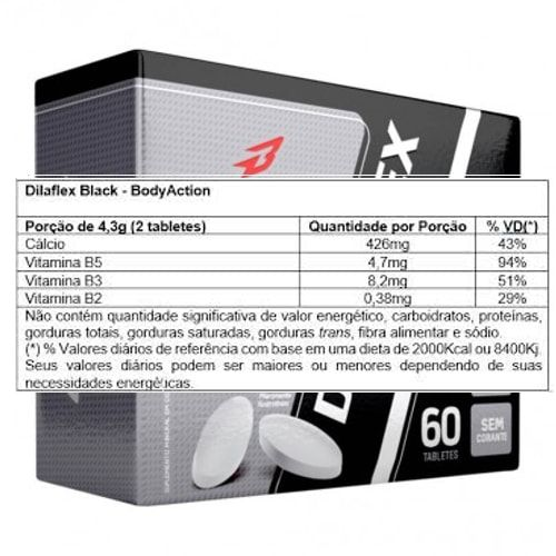 Dilaflex Black 60tabs - Body Action  - Personall Suplementos