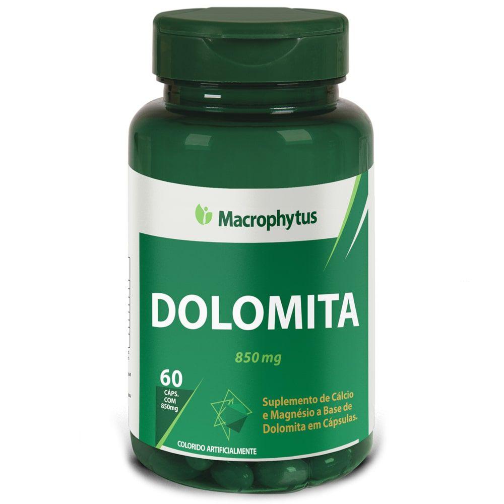 Dolomita ( Cálcio + Magnésio) 60 cápsulas - Macrophytus