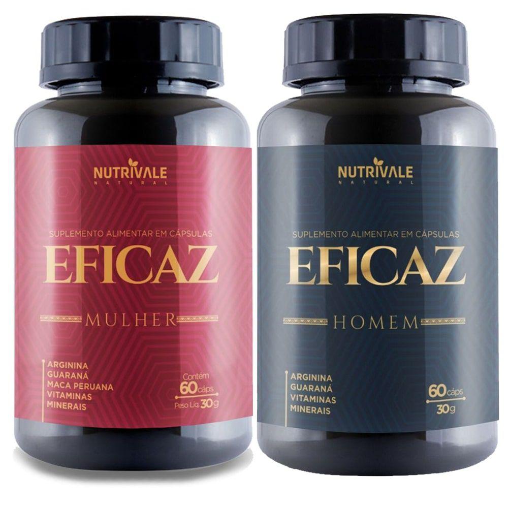 Eficaz Homem + Eficaz Mulher 60 cápsulas - Nutrivale