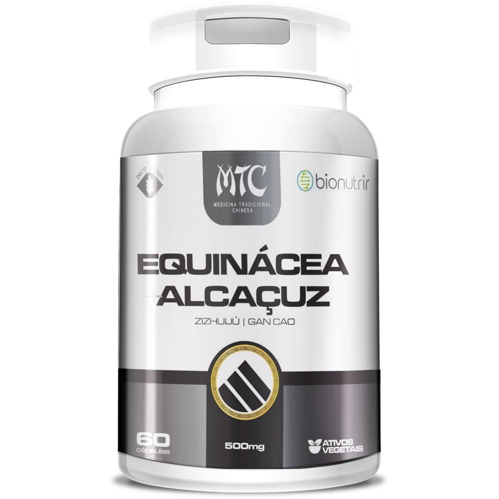 Equinácea + Alcaçuz 500mg 60 cápsulas - Bionutrir