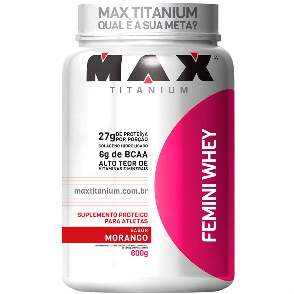 Femini Whey 600g - Max TItanium   - Personall Suplementos