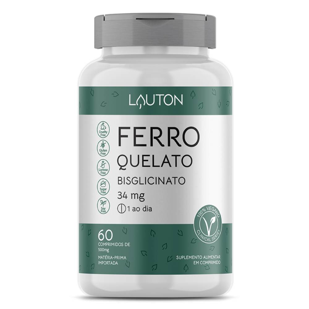 Ferro Quelato 60 comprimidos - Lauton Nurition