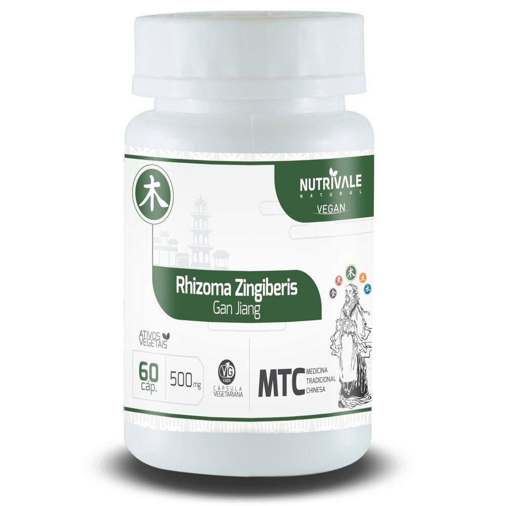 Gengibre - Rhizoma Zingiberis - 60 cápsulas - Nutrivale  - Natulha