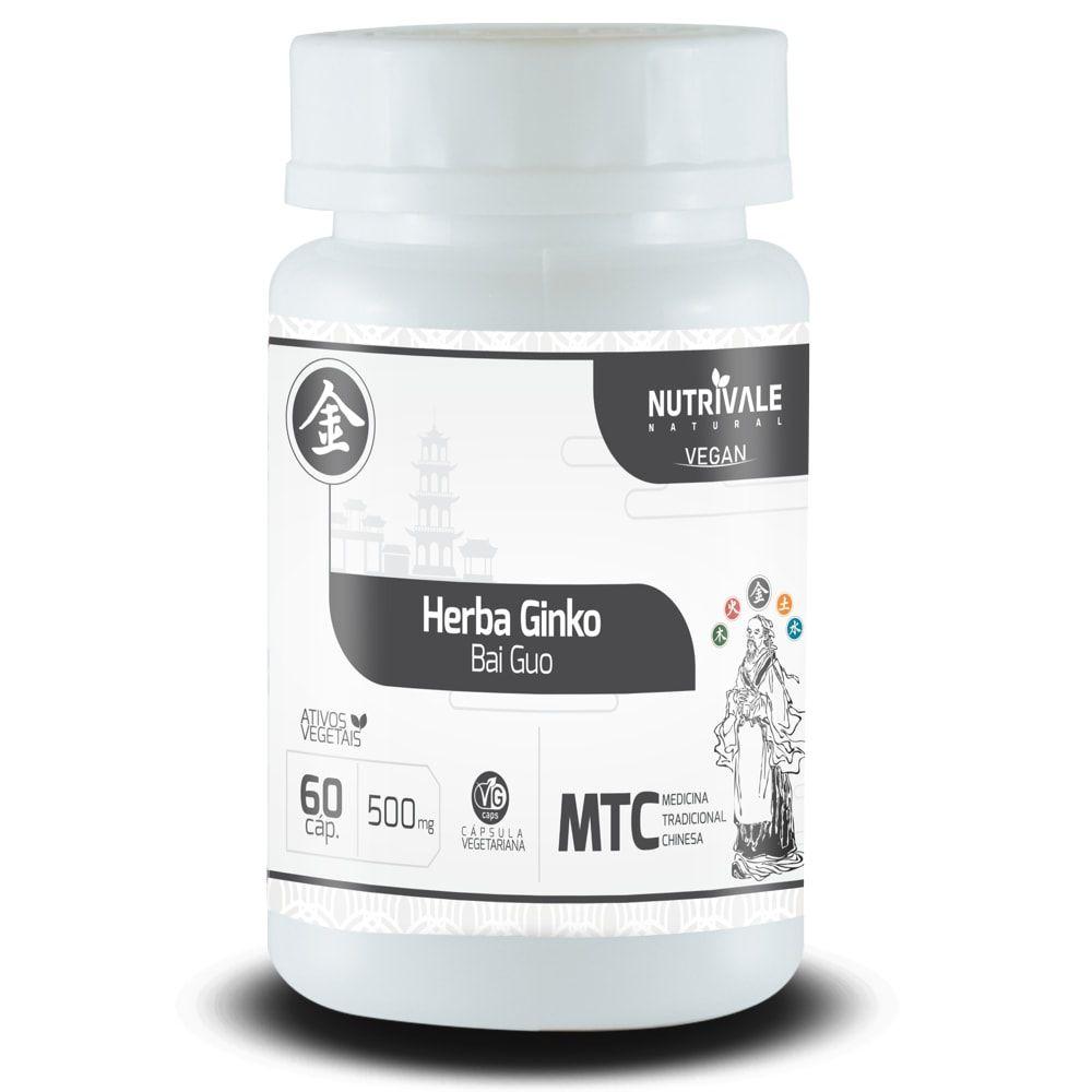 Ginkgo Biloba - Herba Ginko - 60 cápsulas - Nutrivale  - Personall Suplementos