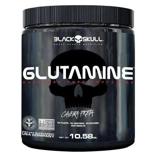 Glutamina 500g - Black SKull  - Personall Suplementos