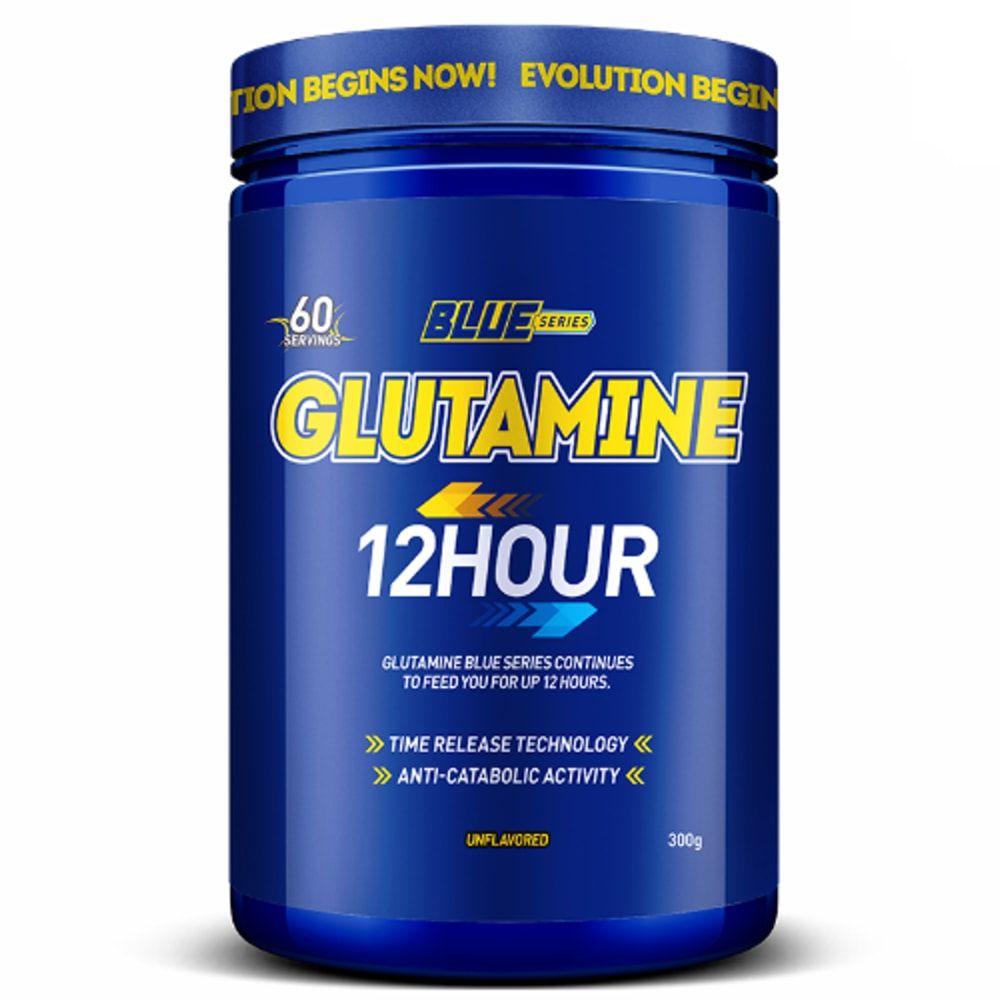Glutamine 12 Hours 300g - Blue Series  - Personall Suplementos