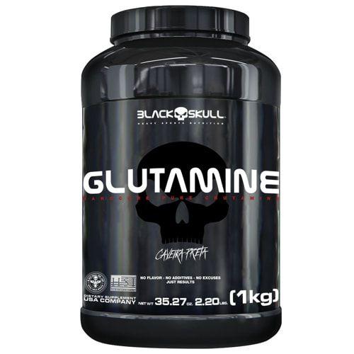 Glutamine 1kg - Black Skull  - Personall Suplementos