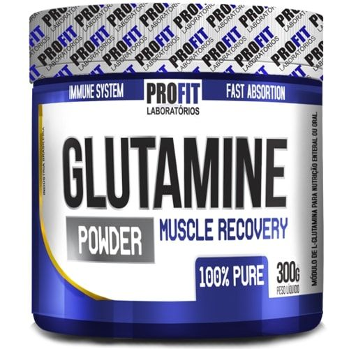 Glutamine Muscle Recovery 300g - Profit  - Personall Suplementos