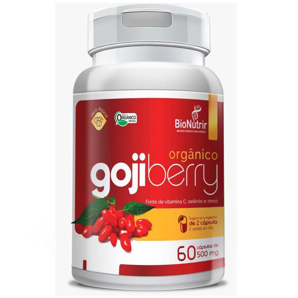 Goji Berry Orgânico 500mg 60 cápsulas - Bionutrir