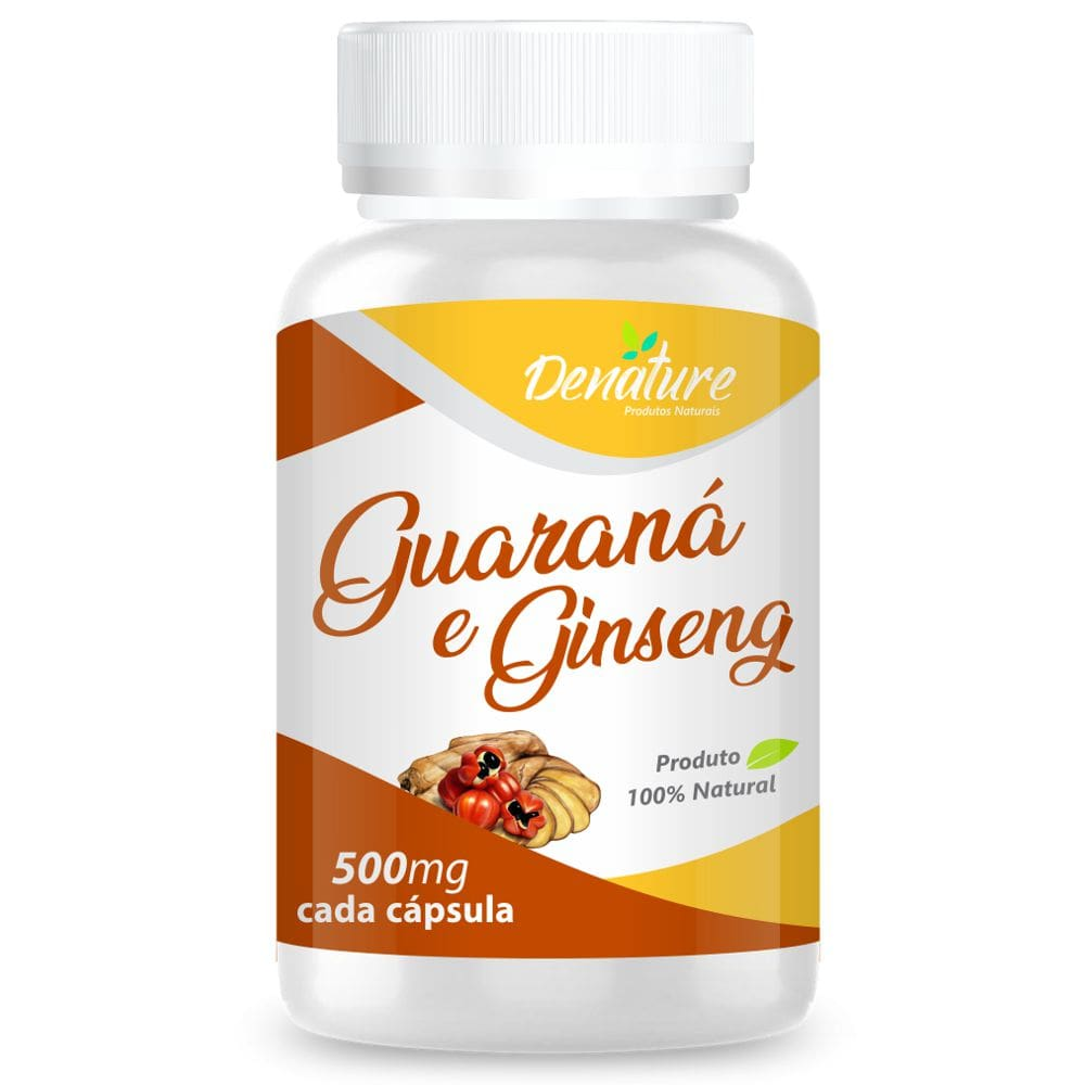 Guaraná com Ginseng  100 cápsulas - Denature