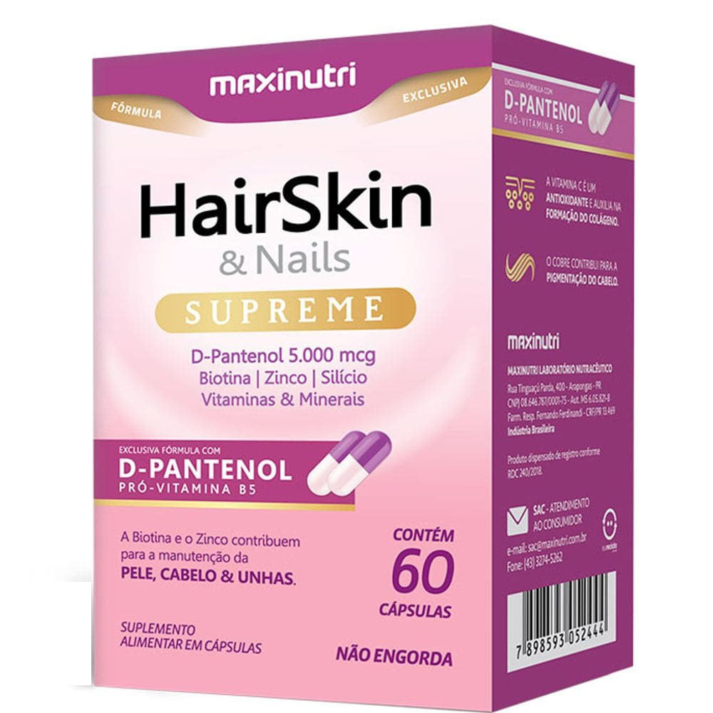 HairSkin & Nails Supreme 60 Cápsulas - Maxinutri