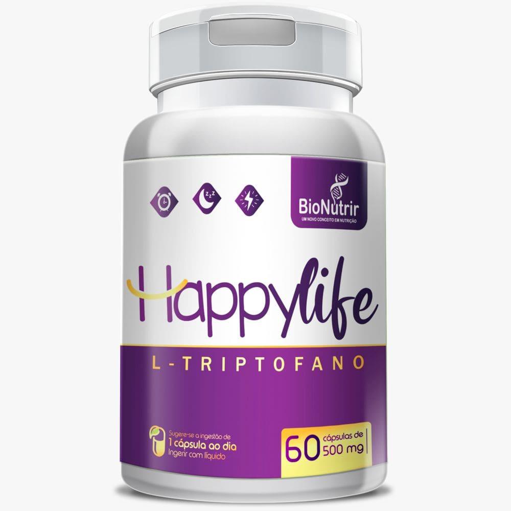Happylife (L-triptofano) 60 cápsulas - Bionutrir  - Natulha