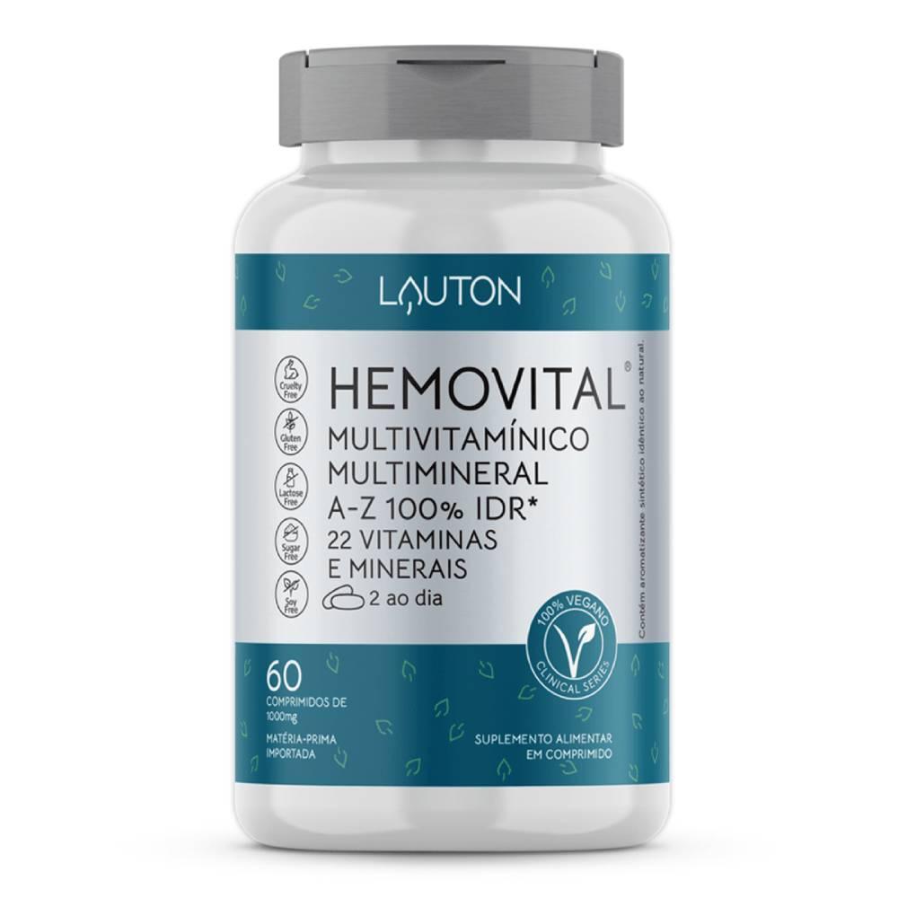 Hemovital - Multivitamínico Vegano - 60 Comprimidos  - Lauton Nutrition
