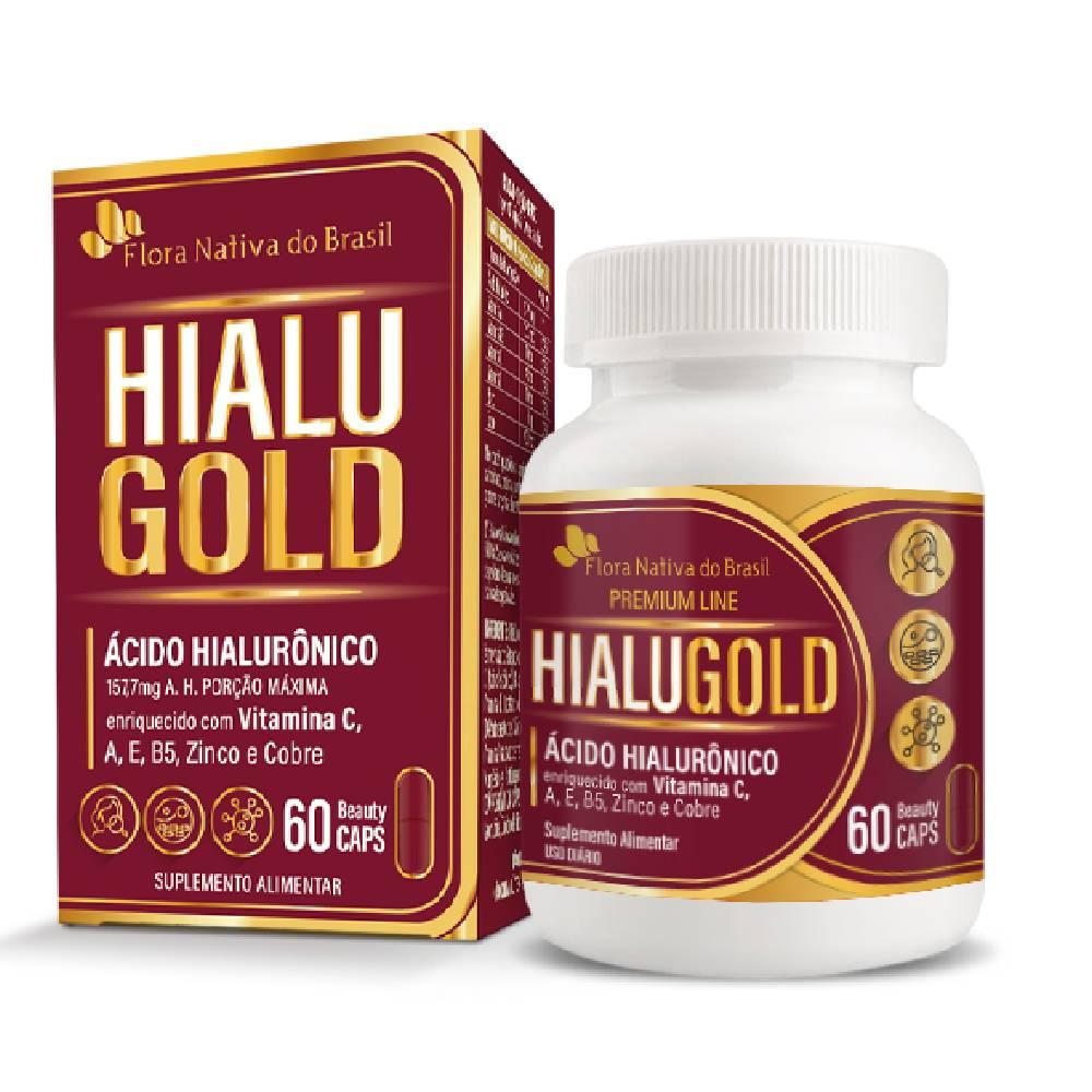 Hialugold (Ácido Hialurônico) 60 cápsulas - Flora Nativa
