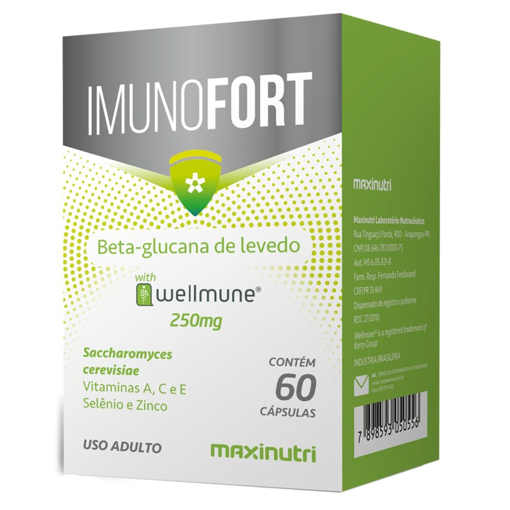Imunofort (Wellmune + Vitaminas) 60 cápsulas - Maxinutri