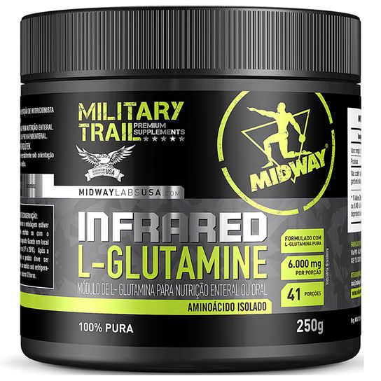 Infrared L-Glutamine 250g - Midway  - Personall Suplementos