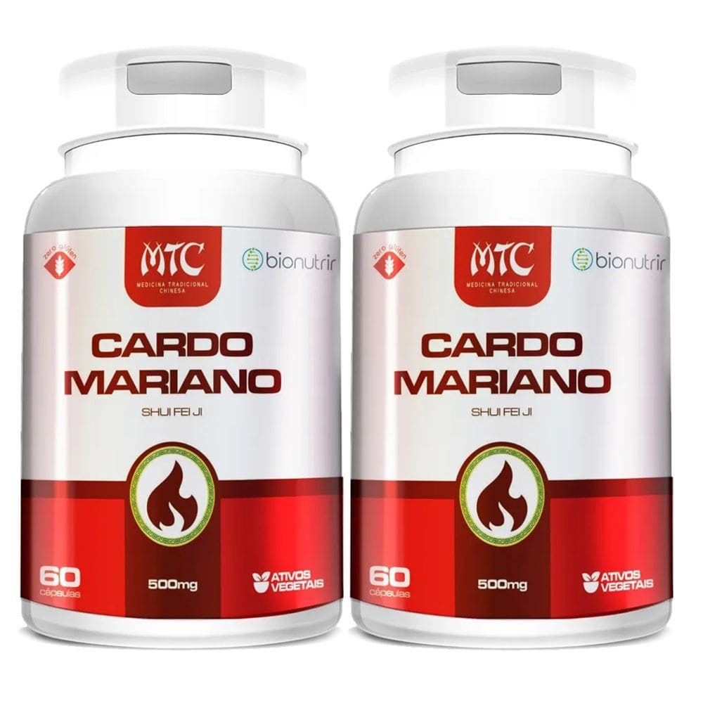 Kit 2x Cardo Mariano (Silimarina) 500mg 60 cápsulas - Bionutrir