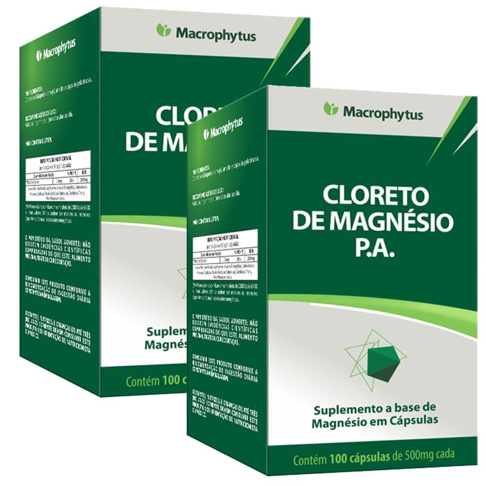 Kit 2x Cloreto de Magnésio PA 100 cápsulas - Macrophytus