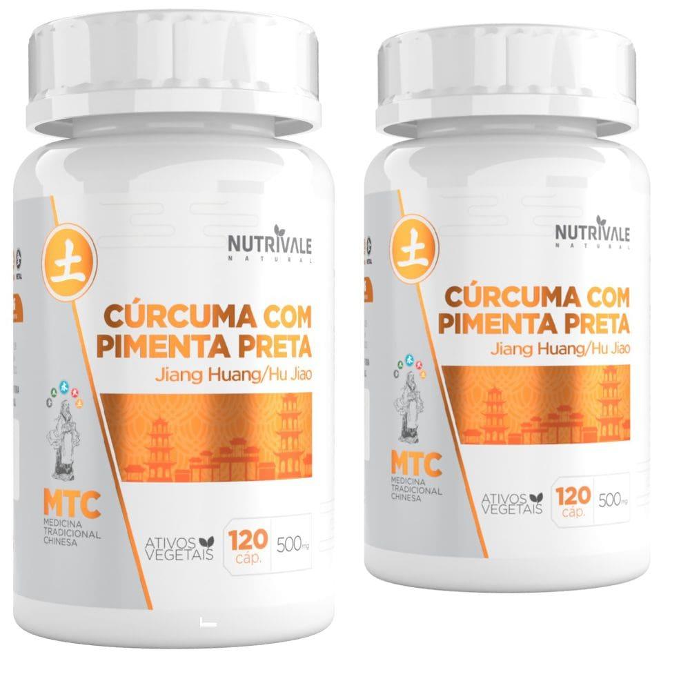 Kit 2x Curcuma com Pimenta Preta 650mg 120 cápsulas - Nutrivale