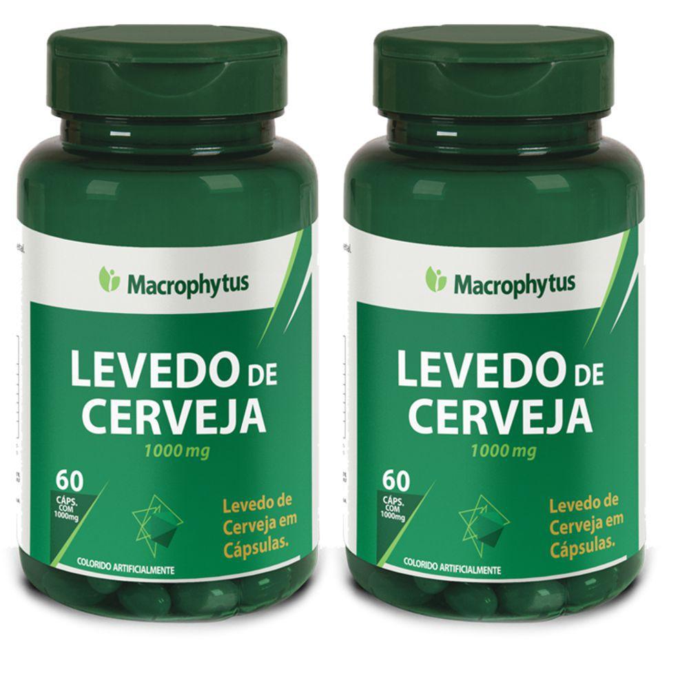 Kit 2x Levedo de Cerveja 1000mg 60 cápsulas - Macrophytus