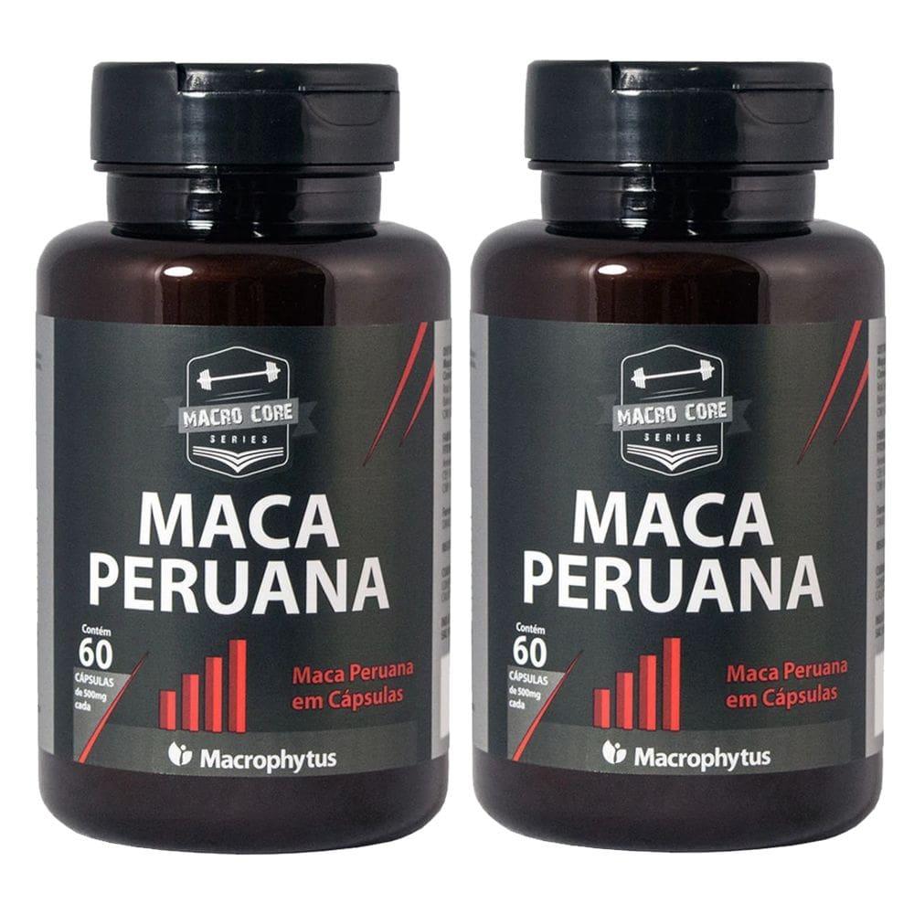 Kit 2x Maca Peruana 500mg 60 cápsulas - Macrophytus