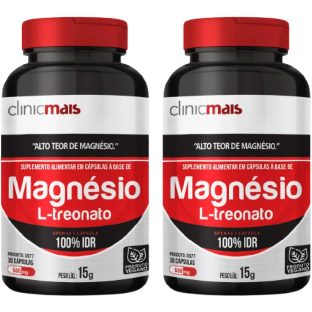 KIT 2x Magnésio L-Treonato Vegano 30 doses - Clinicmais