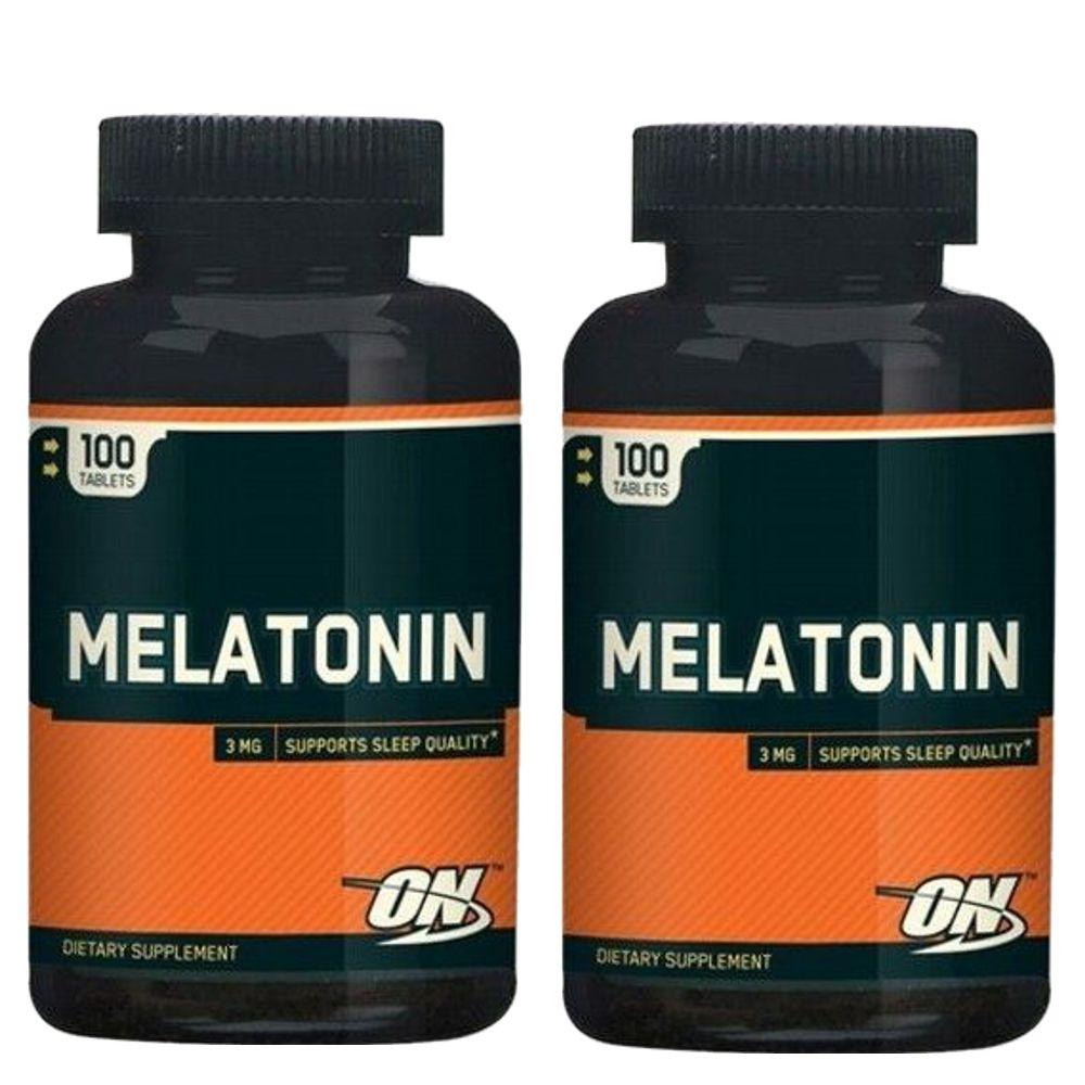 Kit 2x Melatonina 3mg Optimum Nutrition - 100 comprimidos cada  - Personall Suplementos